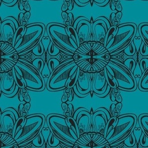 turquoise doodle