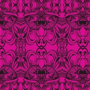 fuchsia doodle