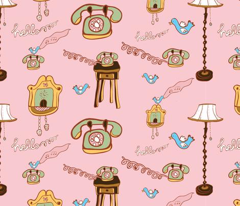 Hello! fabric by melanie_chadwick on Spoonflower - custom fabric