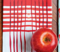 C'EST LA VIV Kitchen Plaid ~ Red Pepper