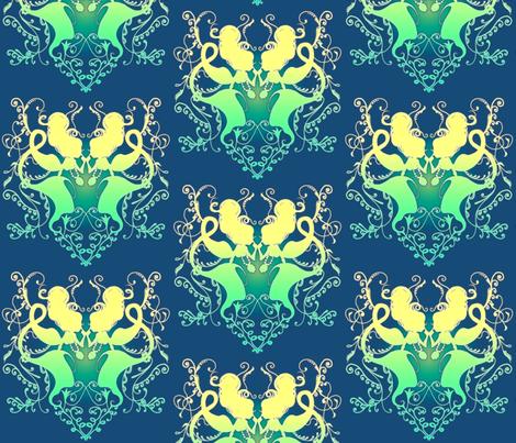 Mermaids fabric by jadegordon on Spoonflower - custom fabric