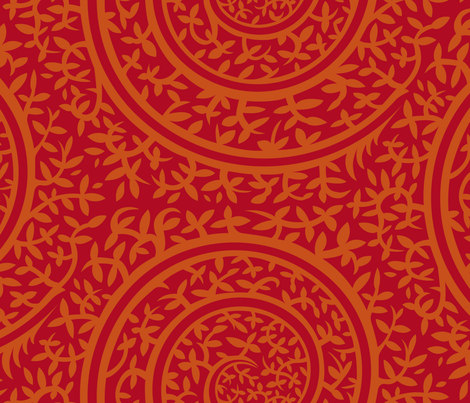 medieval_redbkg fabric by jorz on Spoonflower - custom fabric