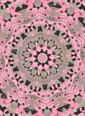 Pink & Black Kaleidescope 2