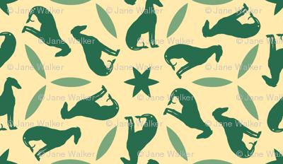 Green Greyhounds gg2 ©2010 by Jane Walker