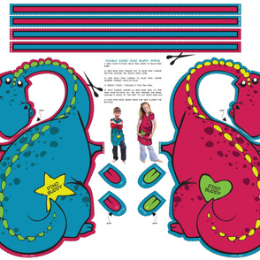 Dino Reversable Apron - Double Sided