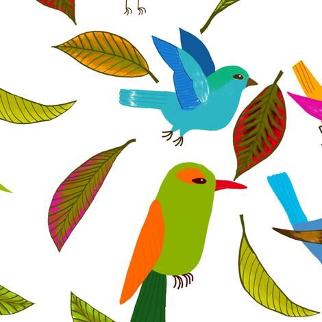 oiseau du paradis L fabric by nadja_petremand on Spoonflower - custom fabric