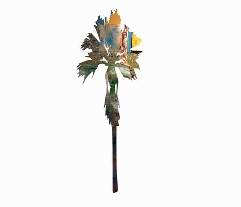 Palm Tree Stripe fabric by karenharveycox on Spoonflower - custom fabric