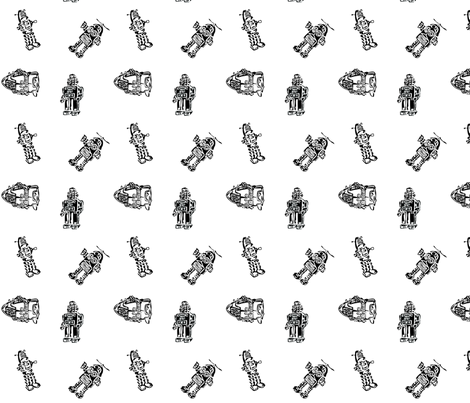 ROBOTS! fabric by lazydee on Spoonflower - custom fabric