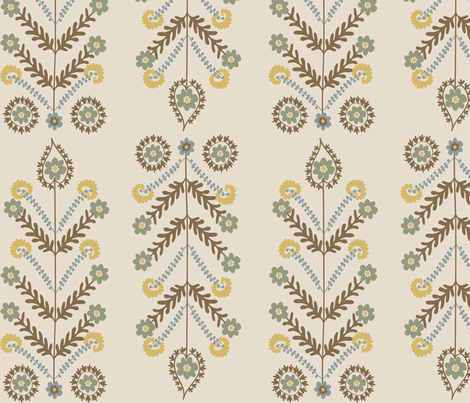Floral Stalks fabric by nyma83 on Spoonflower - custom fabric