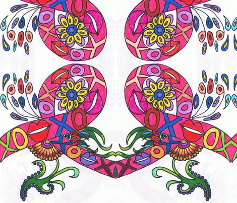 RetroCDG A Little Love fabric by charldia on Spoonflower - custom fabric
