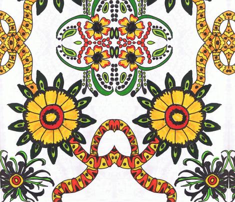 RetroCDG Sunflower Twist fabric by charldia on Spoonflower - custom fabric