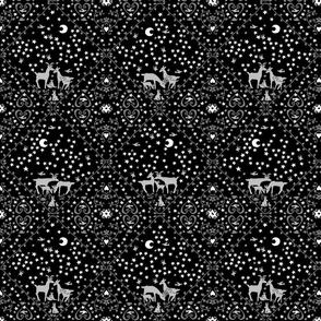 Grey deer large design