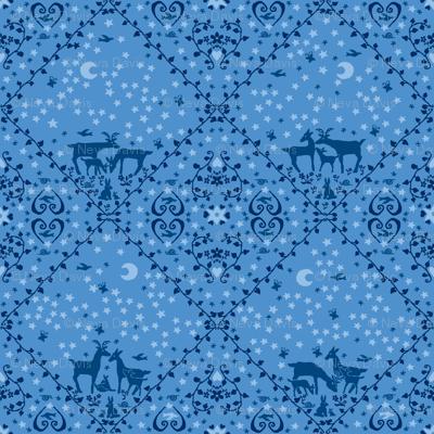 Blue deer large design