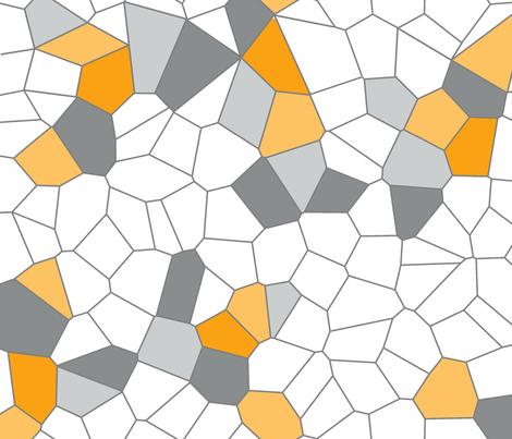 Voronoi Random Colour fabric by candyjoyce on Spoonflower - custom fabric