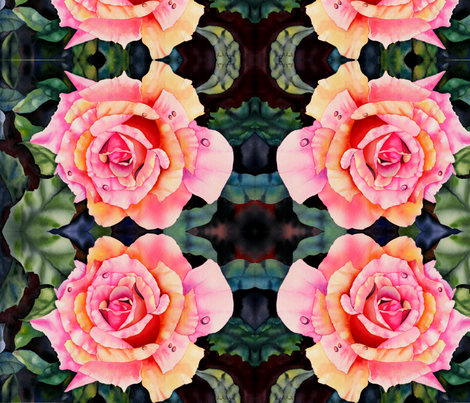 Sunkissed Rose II fabric by stramer on Spoonflower - custom fabric