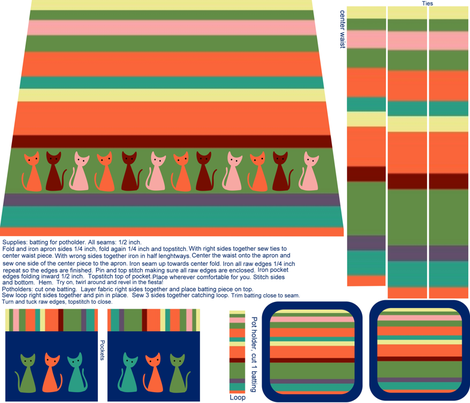 A Tribute to Fiestaware fabric by vo_aka_virginiao on Spoonflower - custom fabric
