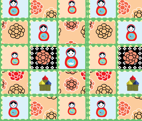 Russian Doll Cheaters Cloth fabric by kiwicuties on Spoonflower - custom fabric