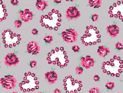 hearts and roses small