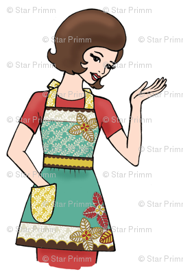 Flora Retro Apron Girl