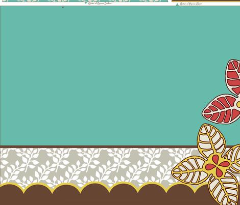 Flora Retro Apron fabric by mytinystar on Spoonflower - custom fabric
