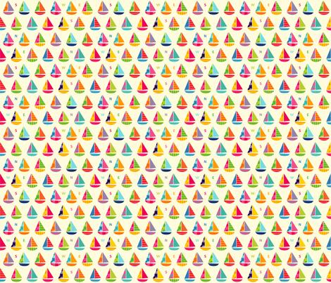 Tiny Boats fabric by spellstone on Spoonflower - custom fabric