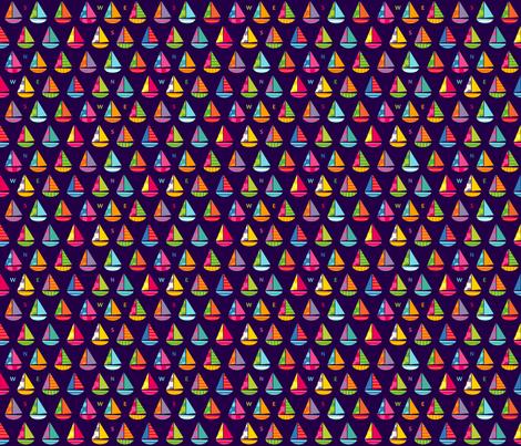 Tiny Boats Night fabric by spellstone on Spoonflower - custom fabric