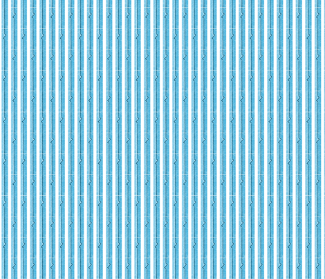 Heartbeat Stripes Blue fabric by siya on Spoonflower - custom fabric