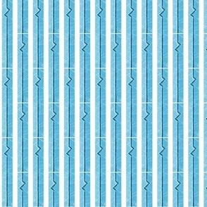 Heartbeat Stripes Blue