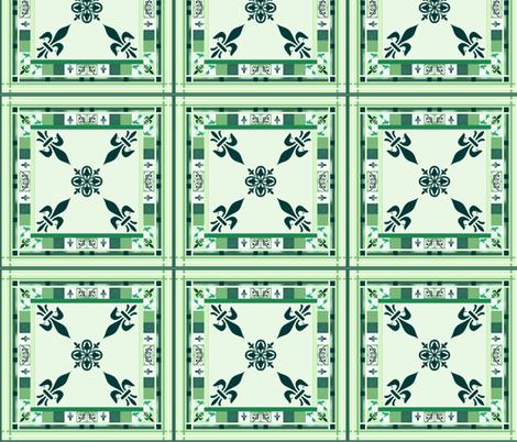 Grieving Mothers - fleur-de-lis  Q. Block fabric by paragonstudios on Spoonflower - custom fabric