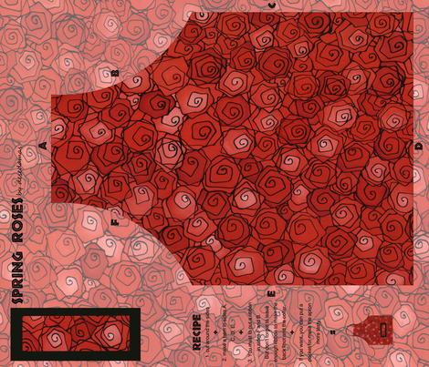 Spring Roses fabric by desedamas on Spoonflower - custom fabric