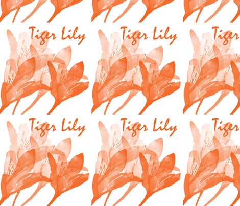Tiger Lily fabric by karenharveycox on Spoonflower - custom fabric