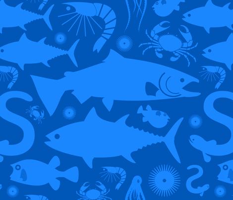 sealifesf fabric by jevaart on Spoonflower - custom fabric