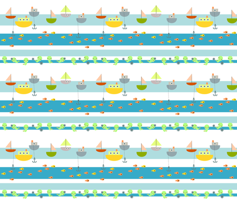 nautical merpeople fabric by berrysprite on Spoonflower - custom fabric