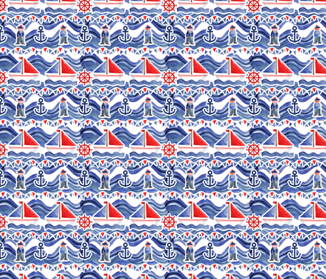A little sailor fabric by nadja_petremand on Spoonflower - custom fabric