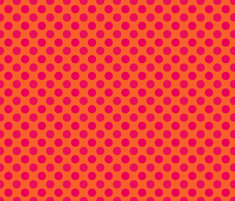 Orange Red Spot fabric by spellstone on Spoonflower - custom fabric