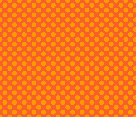 Dark Orange Spot fabric by spellstone on Spoonflower - custom fabric