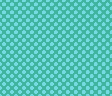 Blue Green Spot fabric by spellstone on Spoonflower - custom fabric