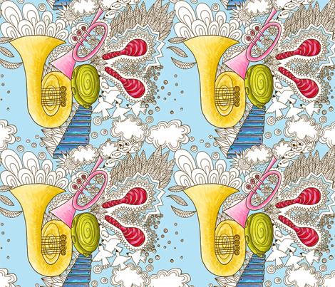 musique celeste M fabric by nadja_petremand on Spoonflower - custom fabric