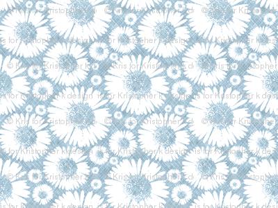 Retro Summer Daisy - Sky
