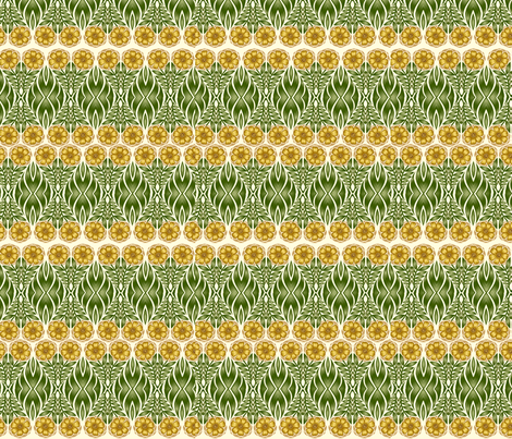 blooming stripes fabric by q_ on Spoonflower - custom fabric