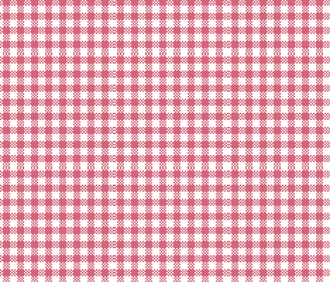 gingham pink fabric by flossies_garden on Spoonflower - custom fabric