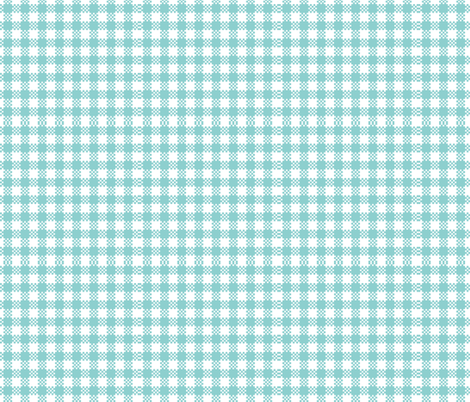 gingham blue fabric by flossies_garden on Spoonflower - custom fabric