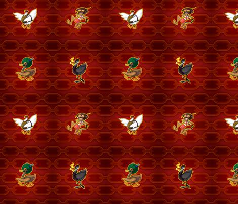 Chicken Monkey Duck 2 fabric by jadegordon on Spoonflower - custom fabric