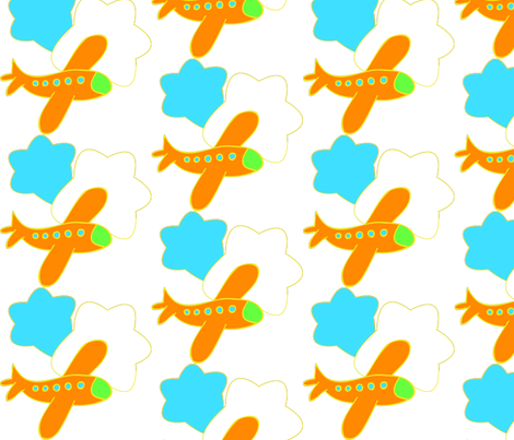 airplanestamp fabric by deniselevy on Spoonflower - custom fabric