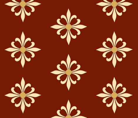 MyMedieval Co-ordinate Red fabric by nyteaqueen on Spoonflower - custom fabric