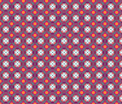 ring of posies in juicy fabric by delsie on Spoonflower - custom fabric