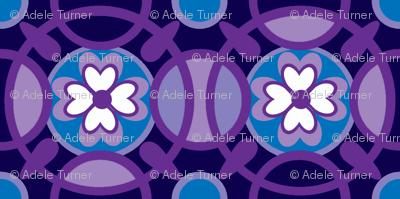 Ring of posies in violet