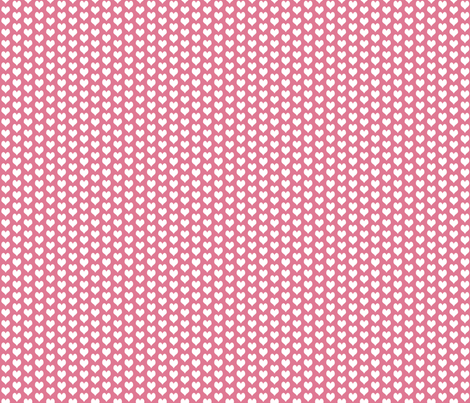 ditsy heart pink fabric by flossies_garden on Spoonflower - custom fabric