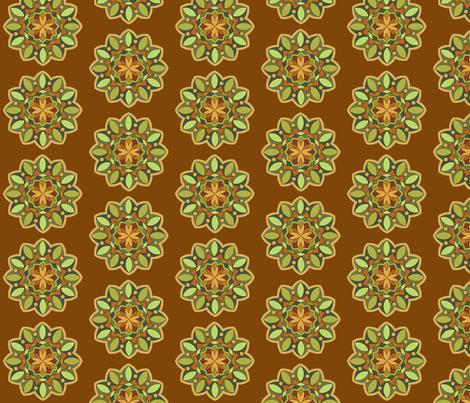MandalaTealCaramel fabric by zephyrlondon on Spoonflower - custom fabric