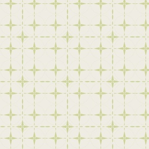 Green Grid on Cream